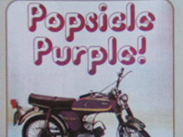 1974 YAMAHA FS1 E POPSICLE PURPLE 394   COLOUR MAGAZINE ADVERT